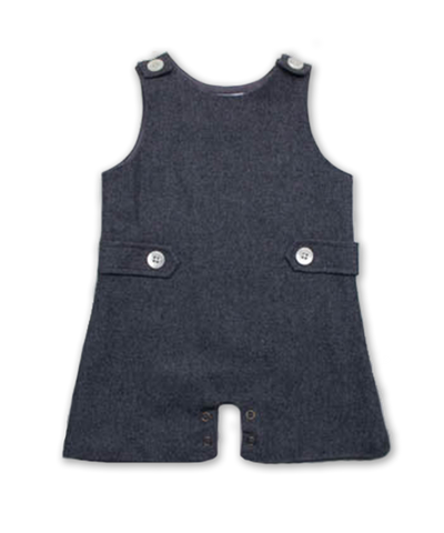Baby Boy Tweed Jumper in Charcoal