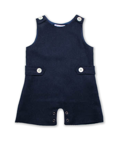 Baby Boy Tweed Jumper in Navy
