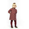 Regina Dress in Bold Red Dot