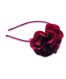 Flower Headband in Fuschia