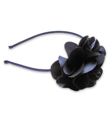 Flower Headband in Navy