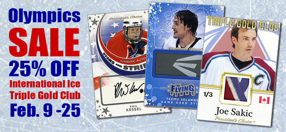 Winter Olympics Sale! 25% Off Select Cards
