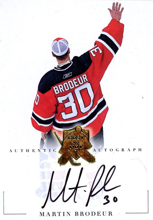 Martin Brodeur Autograph 10 President S Choice Trading Cards