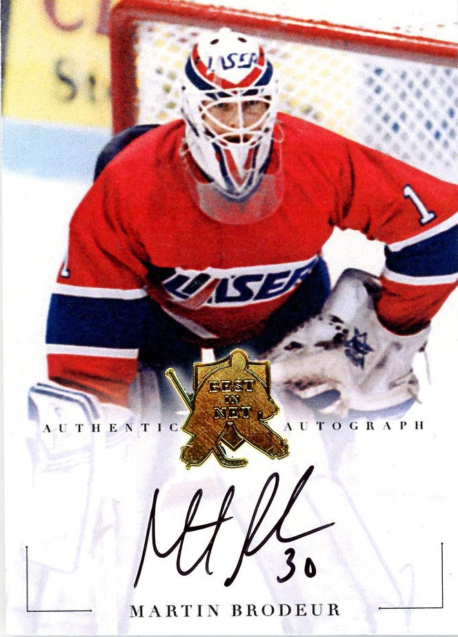 Martin Brodeur Autograph 1 President S Choice Trading Cards