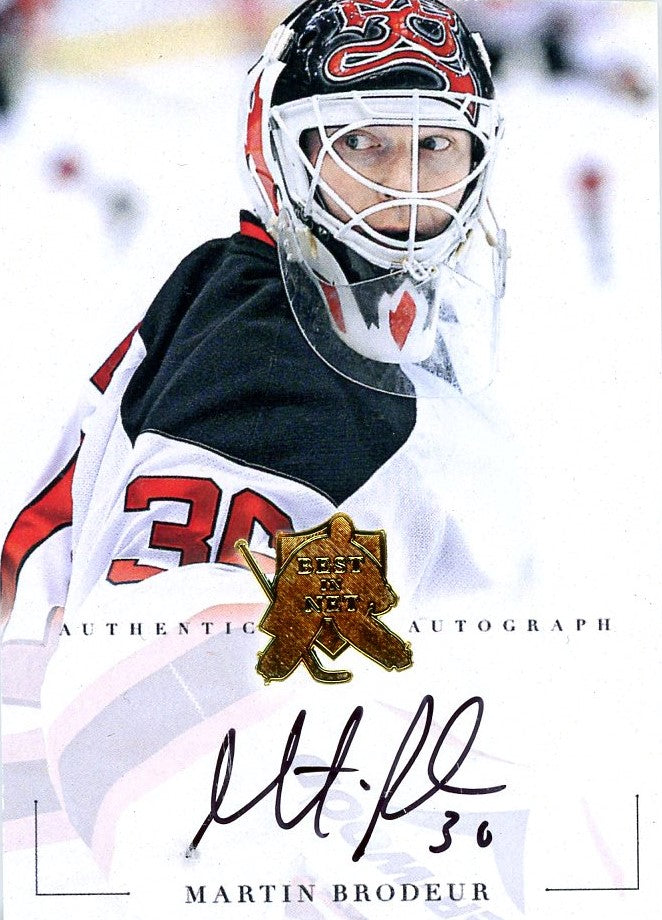 Martin Brodeur Autograph 3 President S Choice Trading Cards