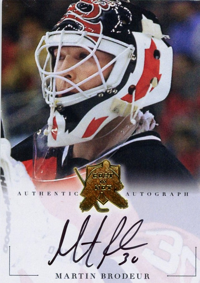 Martin Brodeur Autograph 4 President S Choice Trading Cards