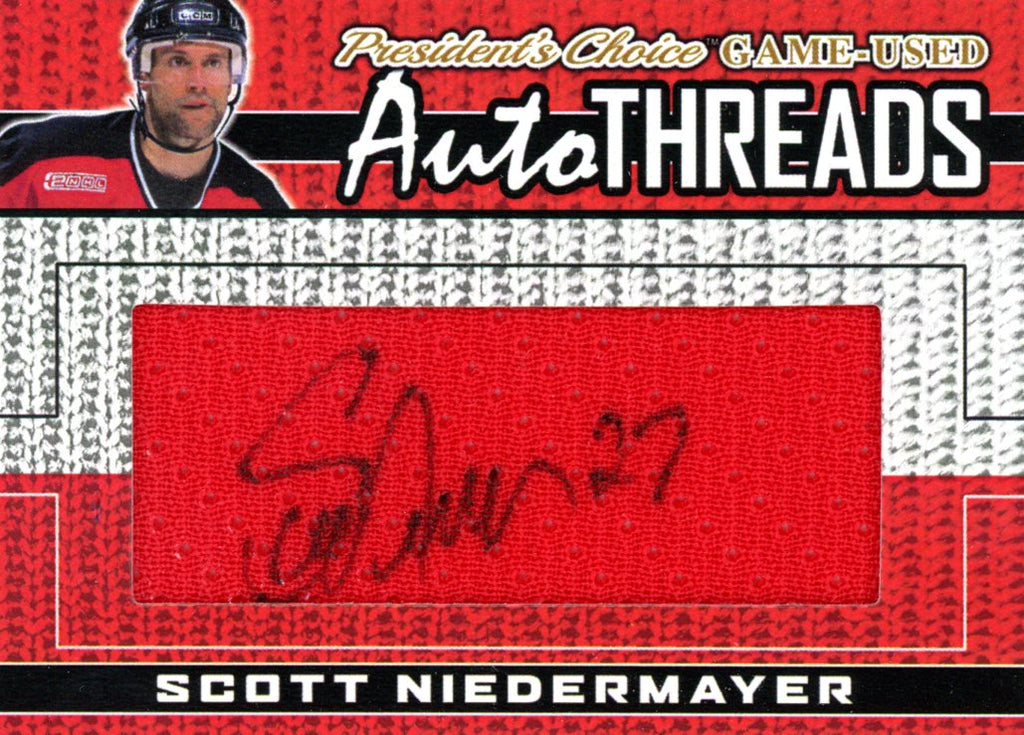 Scott Niedermayer AutoTHREADS #'d 4/10