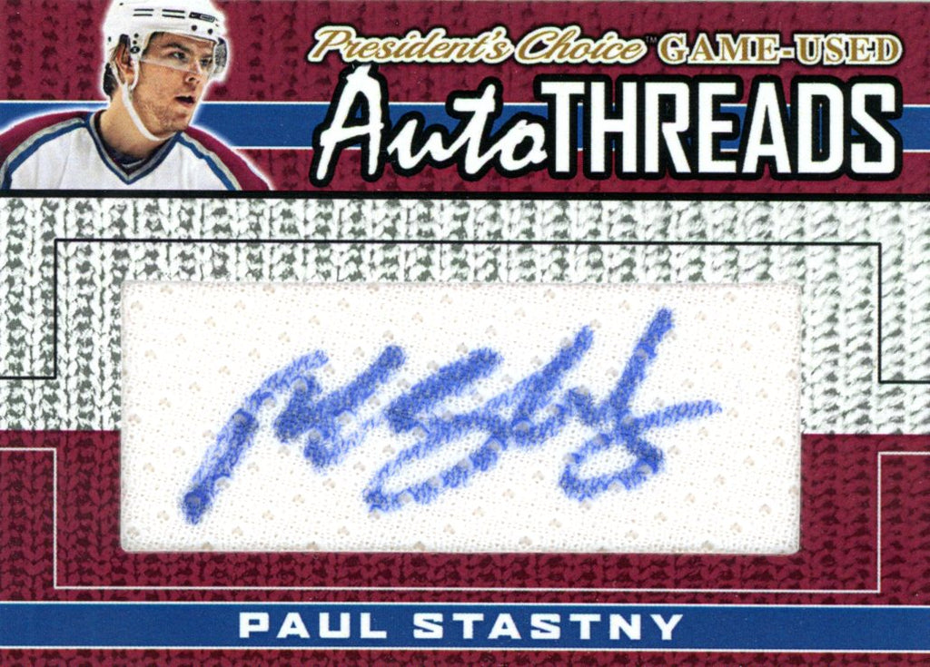 Paul Stastny AutoTHREADS #'d 3/10