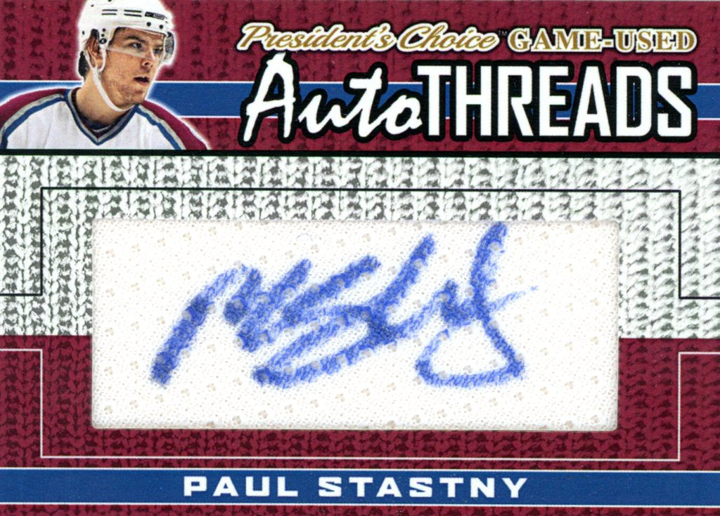 Paul Stastny AutoTHREADS #'d 7/10