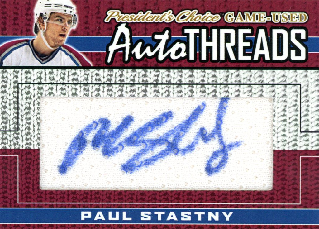 Paul Stastny AutoTHREADS #'d 8/10