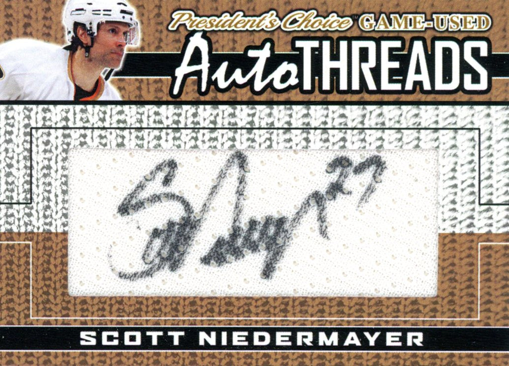 Scott Niedermayer AutoTHREADS #'d 3/10