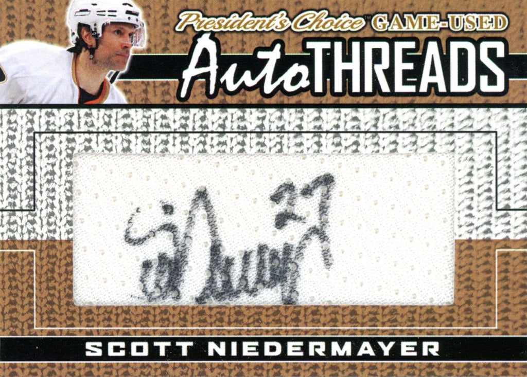 Scott Niedermayer AutoTHREADS #'d 7/10