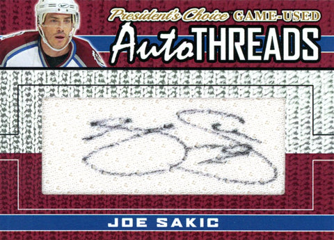 Joe Sakic AutoTHREADS #'d 5/10