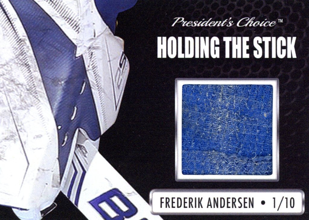 Frederik Andersen Holding the Stick /10