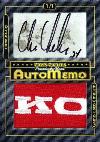 Chris Chelios 1/1 AutoMemo