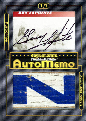 Guy Lapointe 1/1 AutoMemo
