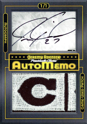 Jeremy Roenick 1/1 AutoMemo