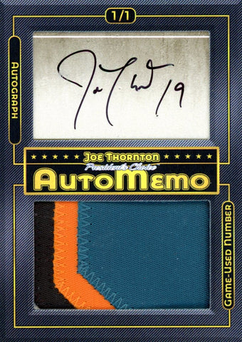 Joe Thornton 1/1 AutoMemo