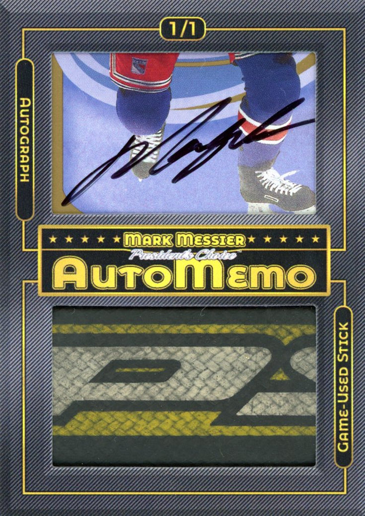 Mark Messier 1/1 AutoMemo