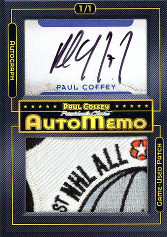 Paul Coffey 1/1 AutoMemo