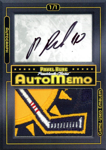 Pavel Bure 1/1 AutoMemo