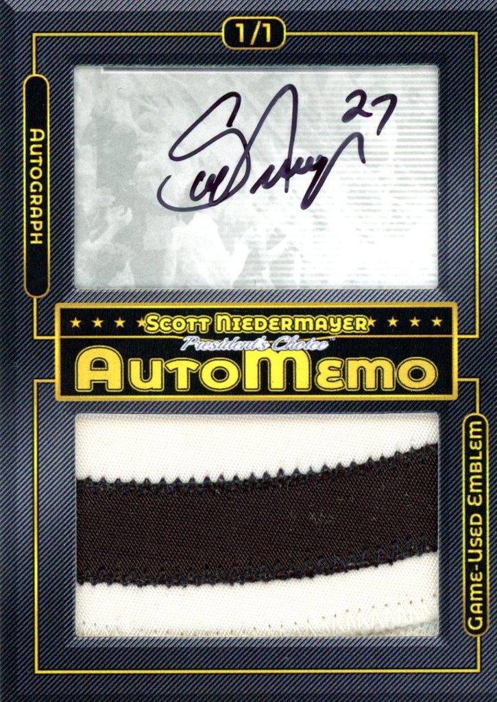 Scott Niedermayer 1/1 AutoMemo
