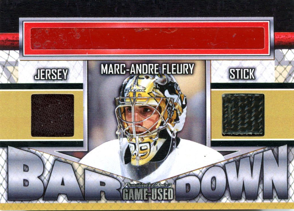Marc-Andre Fleury Bar Down #'d 1/5
