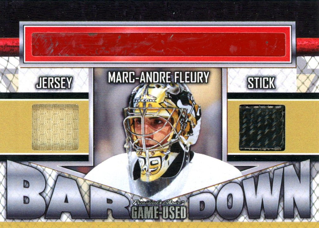 Marc-Andre Fleury Bar Down #'d 4/5