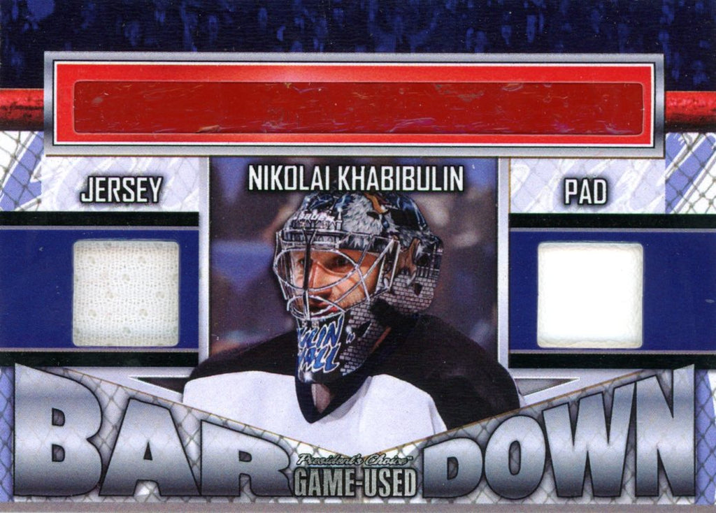 Nikolai Khabibulin Bar Down #'d 3/5