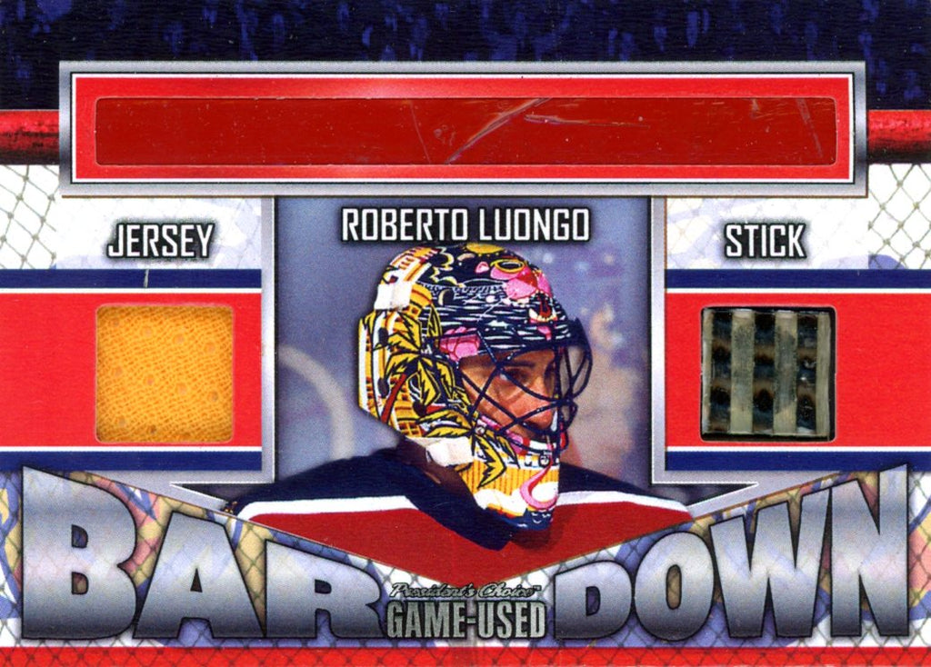 Roberto Luongo Bar Down #'d 1/5