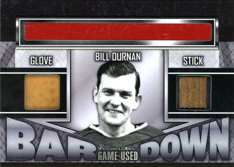 Bill Durnan Bar Down #'d 1/1