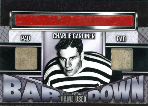 Charlie Gardiner Bar Down #'d 1/1