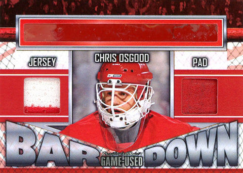 Chris Osgood Bar Down #'d 1/5