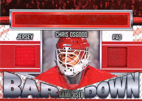 Chris Osgood Bar Down #'d 2/5