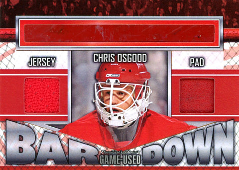 Chris Osgood Bar Down #'d 3/5
