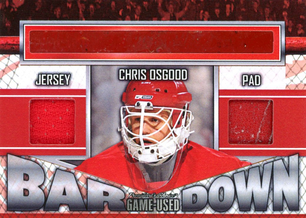 Chris Osgood Bar Down #'d 4/5
