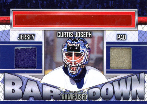Curtis Joseph Bar Down #'d 1/5