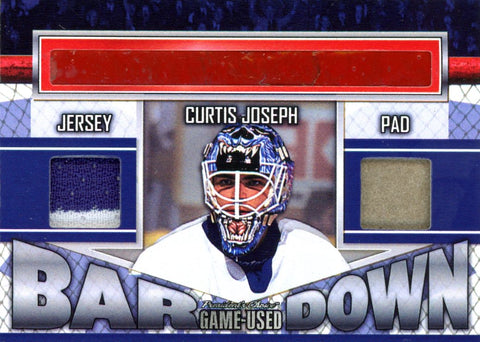 Curtis Joseph Bar Down #'d 3/5