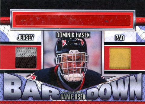 Dominik Hasek Bar Down #'d 2/5