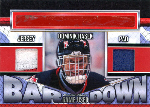 Dominik Hasek Bar Down #'d 3/5