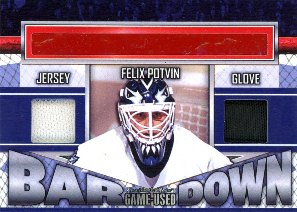 Felix Potvin Bar Down #'d 1/5