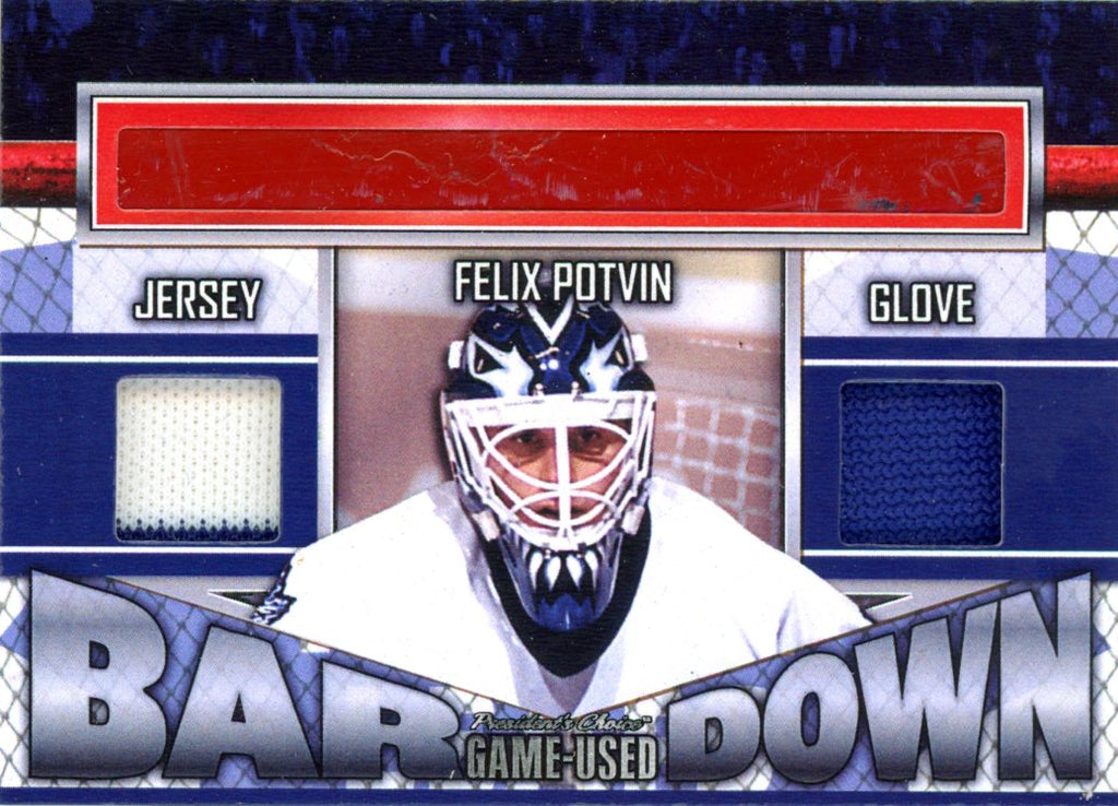 Felix Potvin Bar Down #'d 3/5