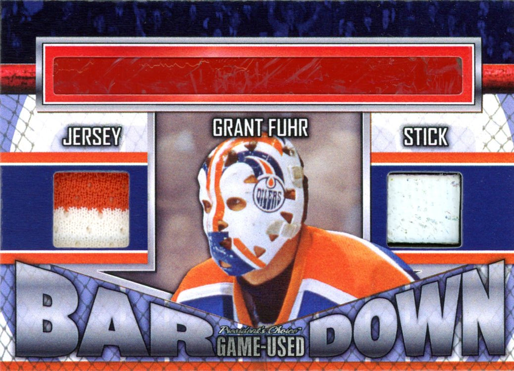 Grant Fuhr Bar Down #'d 1/5
