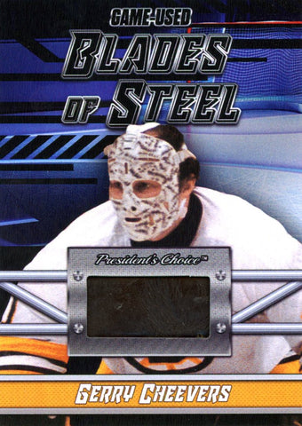 Gerry Cheevers Blades of Steel #'d 2/5