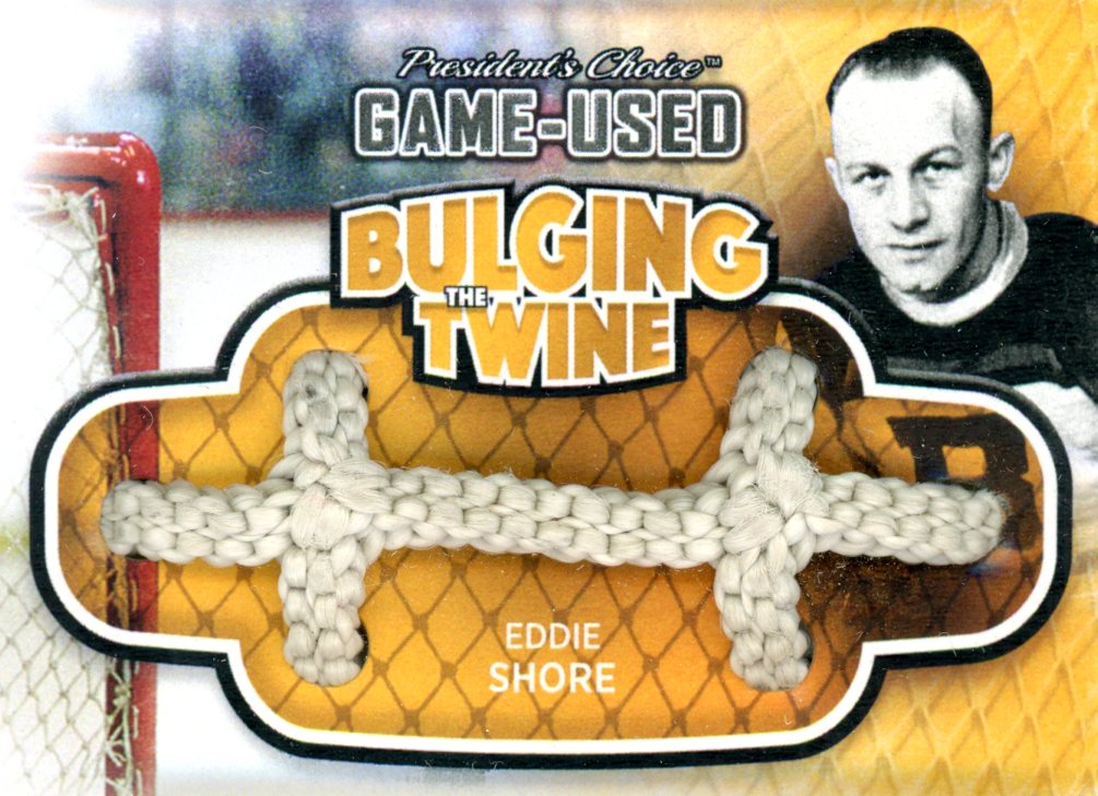 Eddie Shore Bulging The Twine #'d 2/5