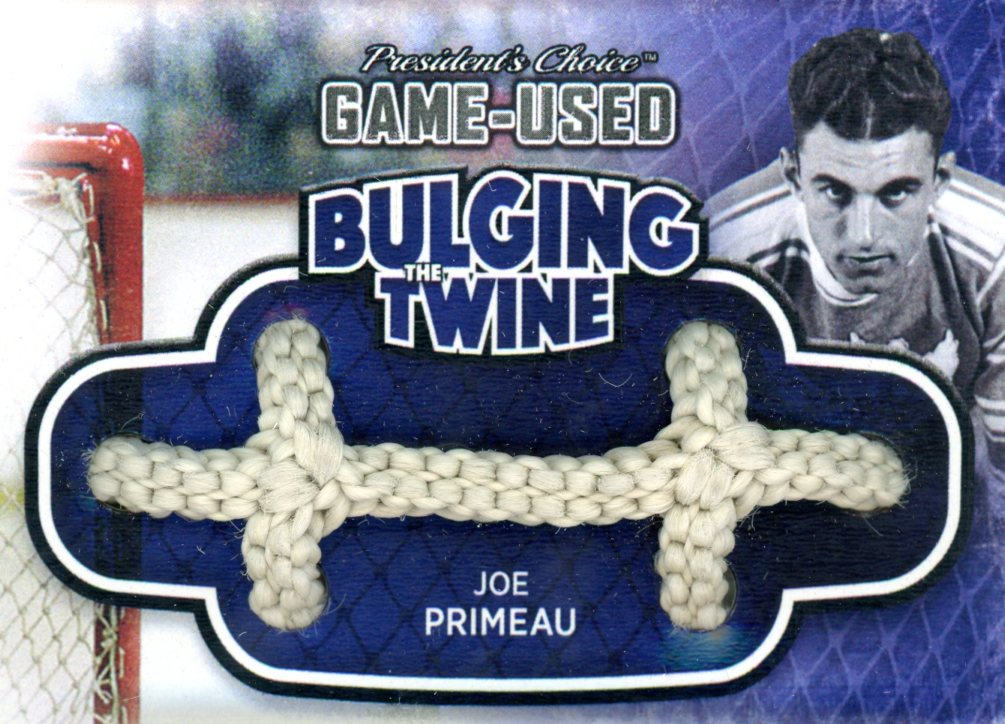 Joe Primeau Bulging The Twine #'d 3/5