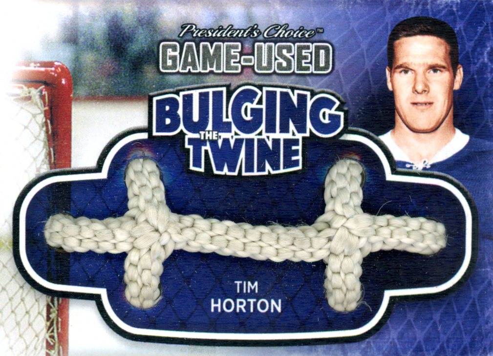 Tim Horton Bulging The Twine #'d 1/5