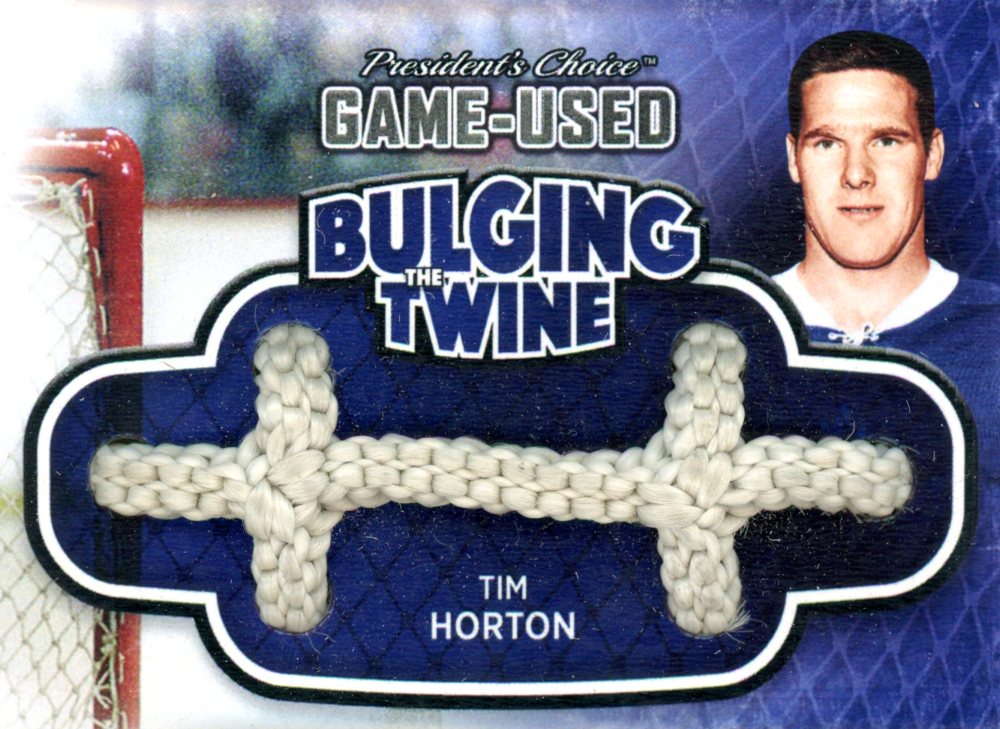 Tim Horton Bulging The Twine #'d 4/5