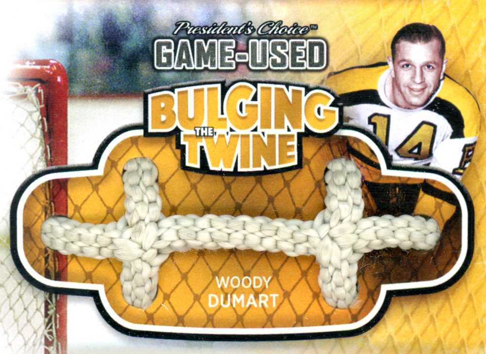 Woody Dumart Bulging The Twine #'d 4/5