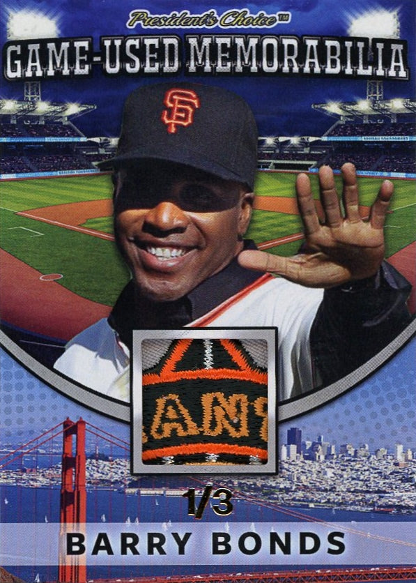 Barry Bonds Game-Used Memorabilia /3